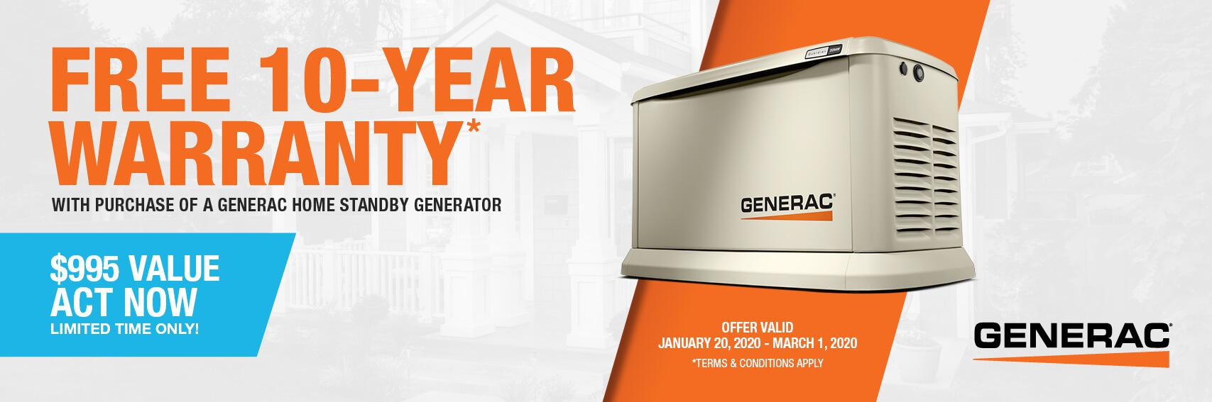 Homestandby Generator Deal | Warranty Offer | Generac Dealer | Midland Park, NJ